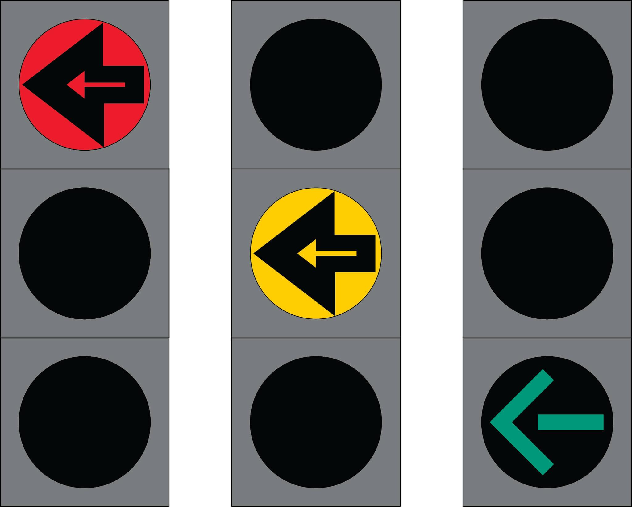 Liikennevalo-opastin 4:Nuolivalo