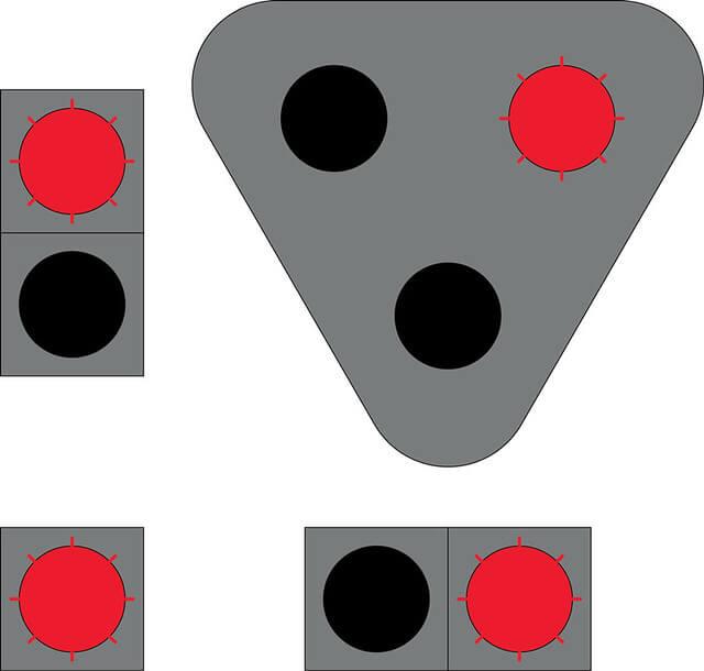 Liikennevalo-opastin 5:Vilkkuva punainen valo