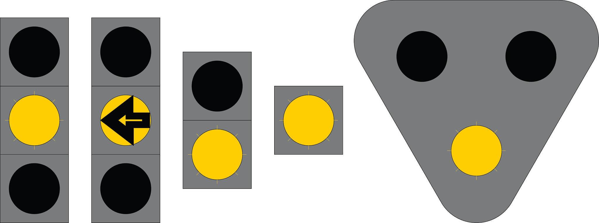 Liikennevalo-opastin 7:Vilkkuva keltainen valo