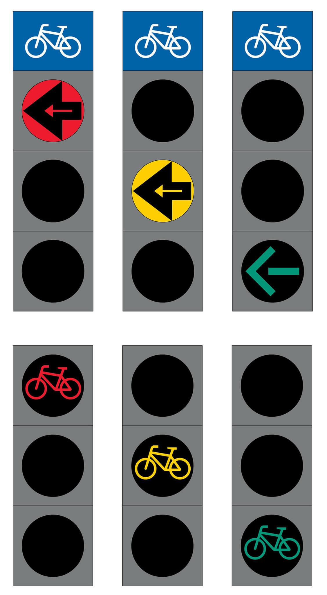 Liikennevalo-opastin 9:Polkupyöräopastin