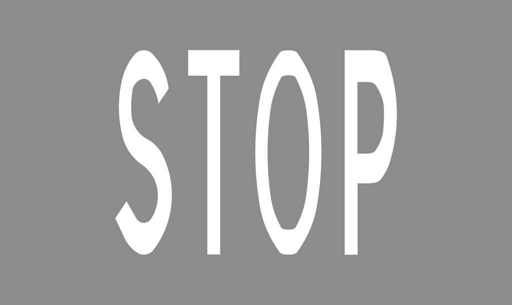Tiemerkintä M10:STOP-ennakkomerkintä