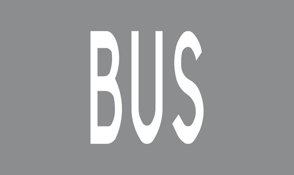 Tiemerkintä M13:BUS-merkintä, alle 50 km/h